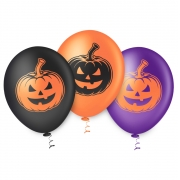 Balão de Festa Estampado Halloween Abobora Sortido - 10