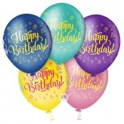 Balão de Festa Estampado Happy Birthday Sortido - 10