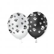 Balão de Festa Estampado Pegadas Dog Sortido - 10