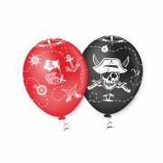 """Balão de Festa Estampado Piratas Sortido - 10"""" 25cm - Pic Pic"""