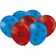 """Balão Festa 3 Palavrinhas - 9"""" 23cm - 25 unidades - Festcolor"""