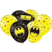 """Balão Festa Batman - 9"""" 23cm - 25 unidades - Festcolor"""