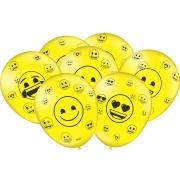 """Balão Festa Emoji - 9"""" 23cm - 25 unidades - Festcolor"""