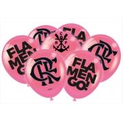 Balão Festa Flamengo Rosa - 25 unidades - Festcolor