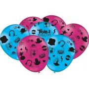 "Balão Festa Trolls - 9"" 23cm - 25 unidades - Festcolor"
