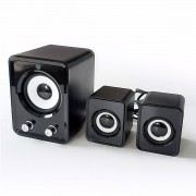Caixa de Som 2.1 5W com USB e Mini Subwoofer 506 Bright
