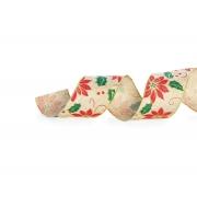 Fita Aramada Natural Azevinho 6,3cm x 9,14m - 01 unidade - Cromus Natal