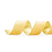 Fita Aramada Veludo Lisa Ouro 3,8cm x 9,14m - 01 unidade - Cromus Natal