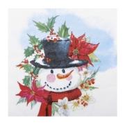 Guardanapo de Papel Boneco de Neve - 32,5cm x 32,5cm - 20 folhas  Cromus Natal