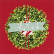Guardanapo de Papel Feliz Natal Guirlanda 32,5cm - 20 folhas - Cromus Natal