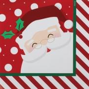 Guardanapo de Papel Papai Noel Listrado 32,5cm - 20 folhas - Cromus Natal