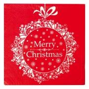 Guardanapo de Papel Merry Christmas 32,5cm - 20 folhas - Cromus Natal