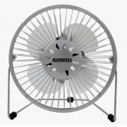 Mini Ventilador De Mesa Usb Alfacell -  Prata - AL12004