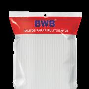 Palito para Pirulito Grande Branco - 50 Unidades N° 28