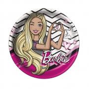 Prato Descartável Festa Barbie - 8 unidades - Festcolor