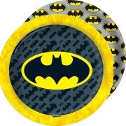 Prato Descartável Festa Batman - 8 unidades - Festcolor