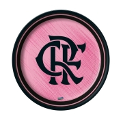 Prato Descartável Festa Flamengo Rosa - 8 unidades - Festcolor