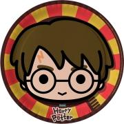 Prato Descartável Festa Harry Potter Kids - 8 unidades  Festcolor