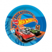 Prato Descartável Festa Hot Wheels - 8 unidades - Festcolor