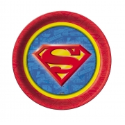 Prato Descartável Festa Superman - 8 unidades - Festcolor