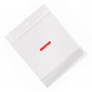 Saco Adesivado Transparente com Furo Liso Incolor - 15x20cm - 100 unidades - Cromus