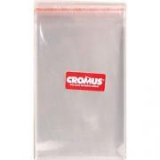 Saco Adesivado Transparente Liso Incolor 6,5x13cm - 100 unidades - Cromus
