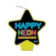 Vela Festa Happy Neon - Cores - 01 Unidade - Festcolor
