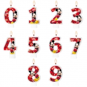 Vela Festa Mickey - Números - 01 unidade - Regina