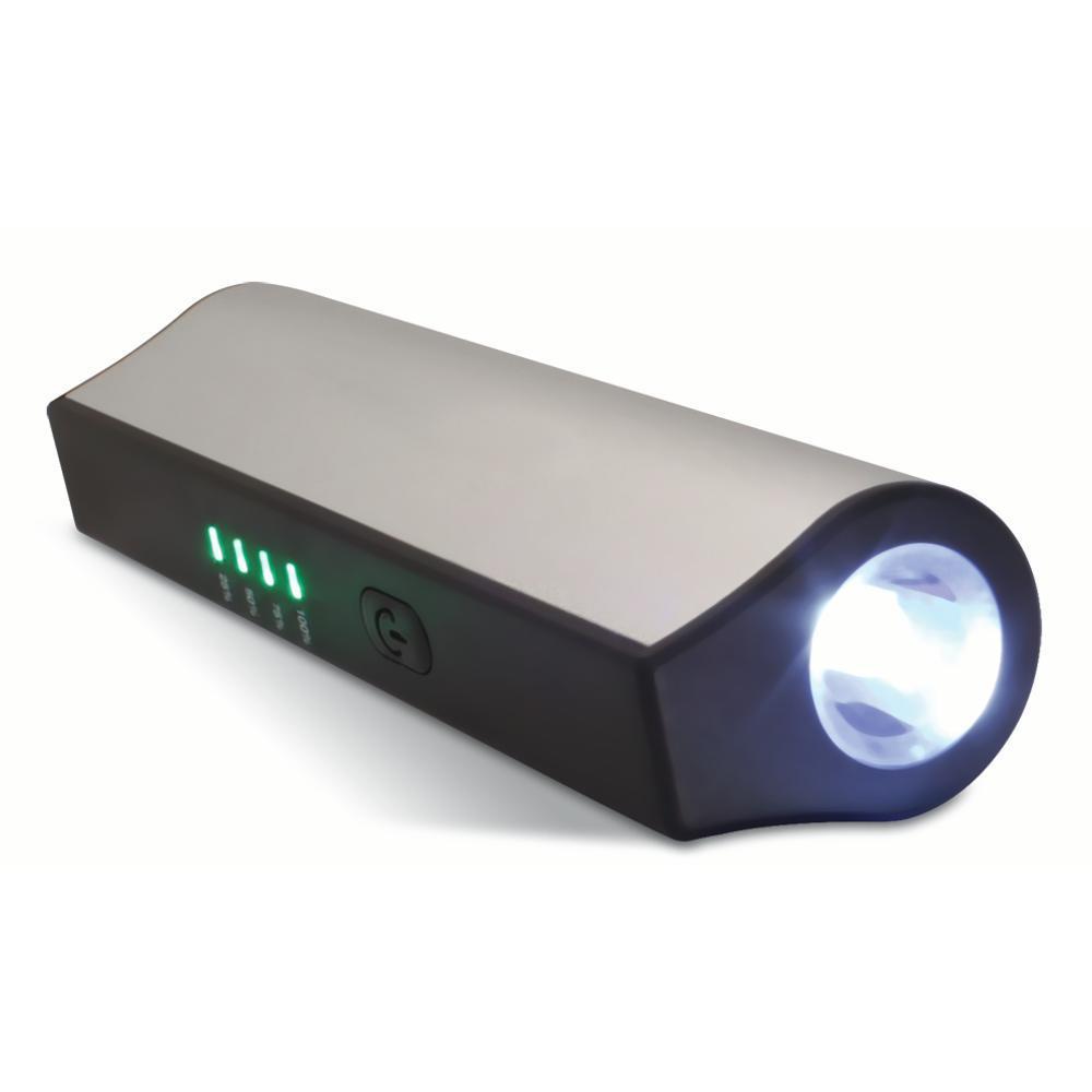 Carregador Portátil Oex Usb Power Bank 3200mah Com Lanterna Pb-200