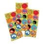 Adesivo Redondo Festa 3 Palavrinhas - 30 unidades - Festcolor