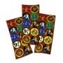 Adesivo Redondo Festa Harry Potter - 30 unidades - Festcolor