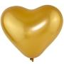 Balão Coração Látex Cromado - Cores - 6