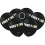 Balão Festa Free Fire Preto - 25 unidades - Festcolor