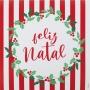 Guardanapo de Papel Feliz Natal Listrado 32,5cm - 20 folhas - Cromus Natal