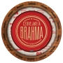 Prato Descartável Festa Brahma Redondo - 8 unidades - Festcolor