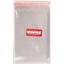 Saco Adesivado Transparente Liso Incolor 6x25cm - 100 unidades - Cromus