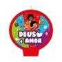 Vela Plana Festa 3 Palavrinhas - 01 Unidade - Festcolor