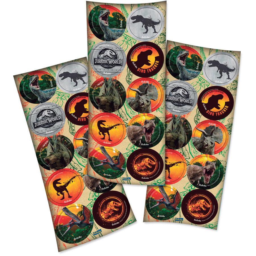 Adesivo Redondo Festa Jurassic World - 30 unidades - Festcolor