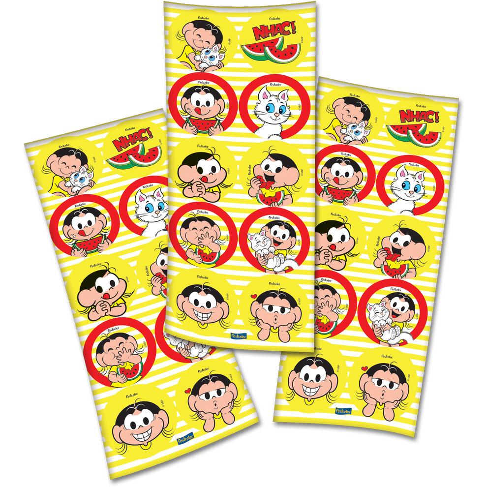 Adesivo Redondo Festa Magali - 30 unidades - Festcolor