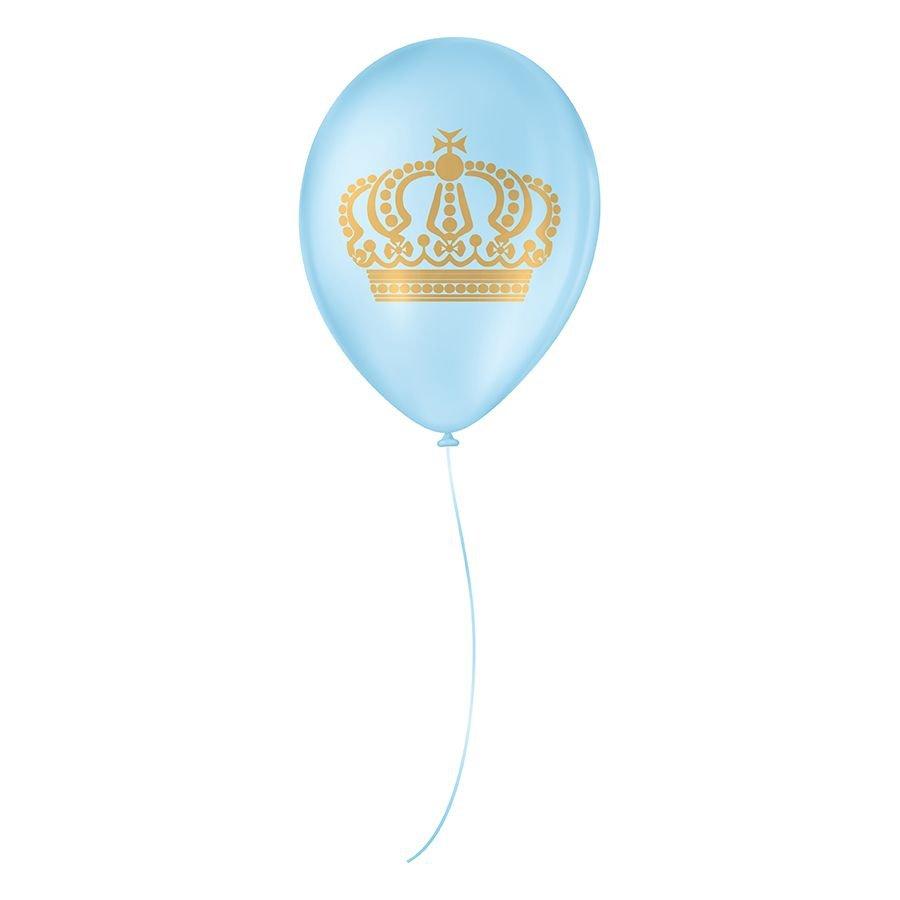 """Balão de Festa Decorado Coroa - Cores - 9"""" 23cm - 25 Unidades"""