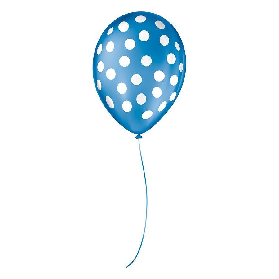"""Balão de Festa Decorado Poá Bolinha - Cores - 9"""" 23cm - 25 Unidades"""