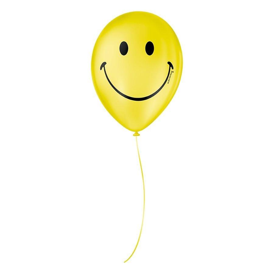 """Balão de Festa Decorado Smile - Sortido 9"""" 23cm - 25 Unidades"""