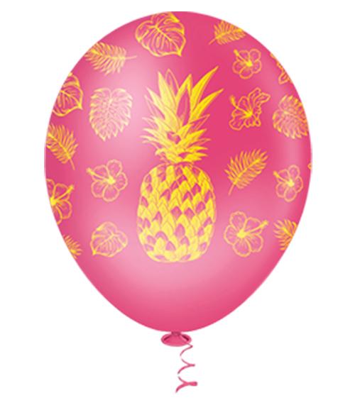 """Balão de Festa Estampado Abacaxi Sortido - 10"""" 25cm - Pic Pic"""