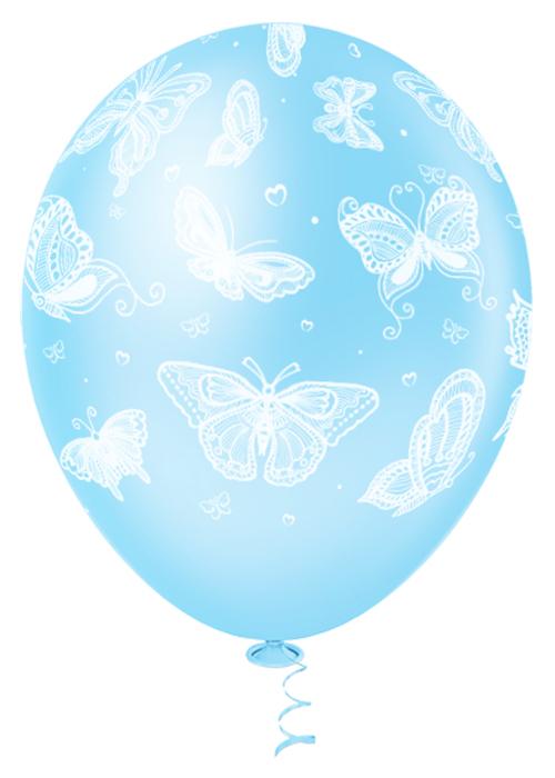 """Balão de Festa Estampado Borboletas Sortido - 10"""" 25cm - Pic Pic"""