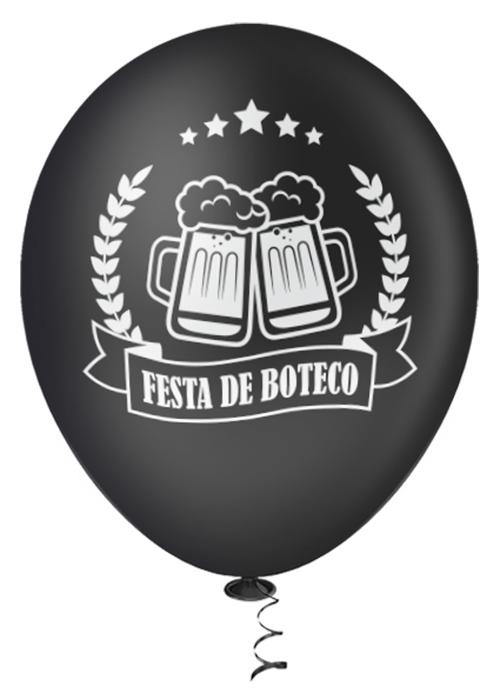"""Balão de Festa Estampado Boteco Sortido - 10"""" 25cm - Pic Pic"""