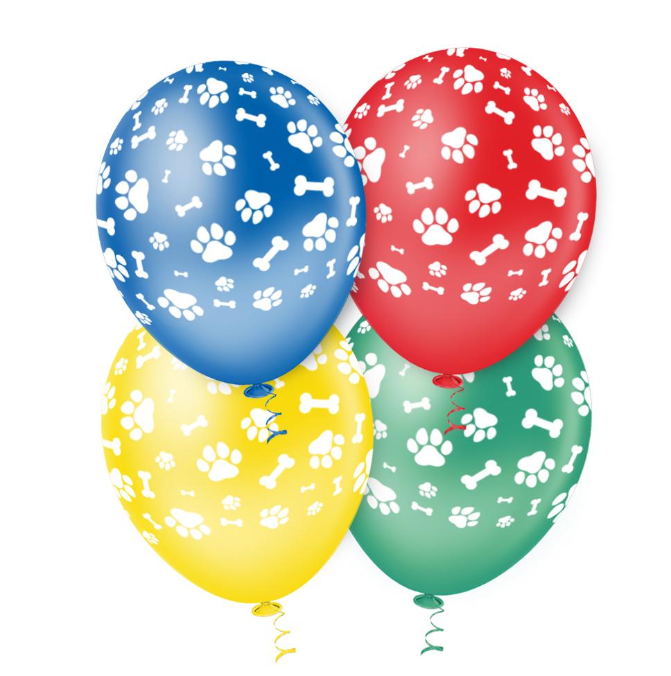 """Balão de Festa Estampado Caninos Sortido - 10"""" 25cm - Pic Pic"""