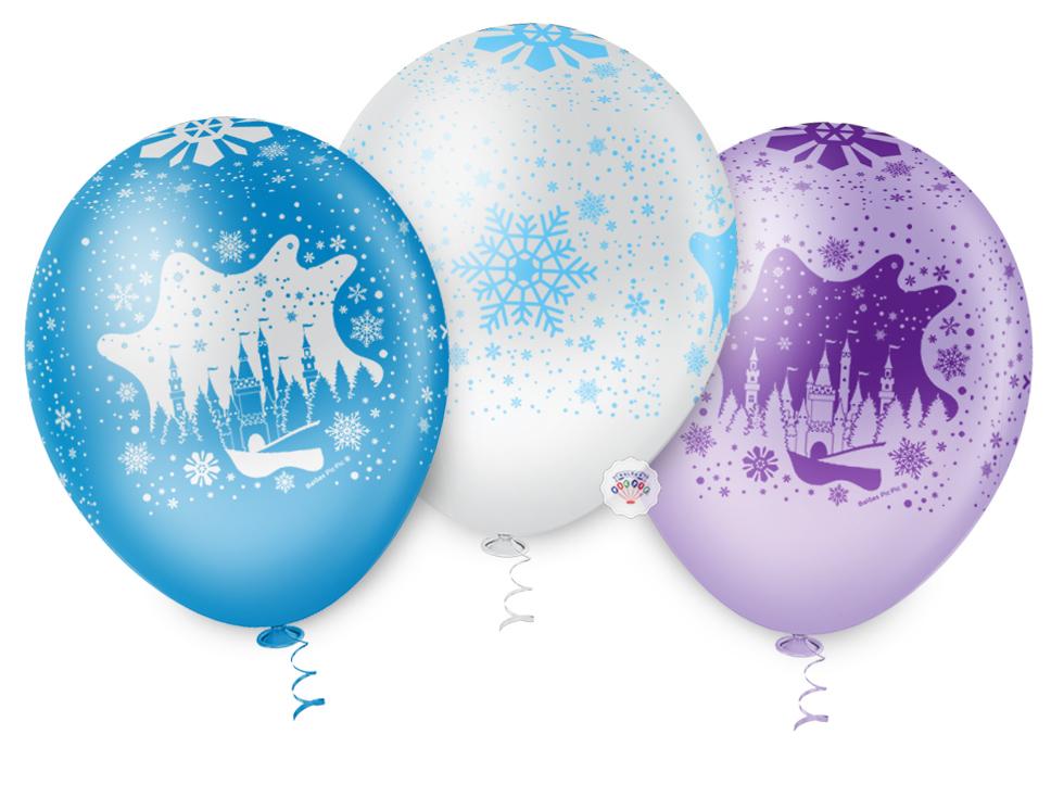 """Balão de Festa Estampado Castelo de Neve - 10"""" 25cm - Pic Pic"""