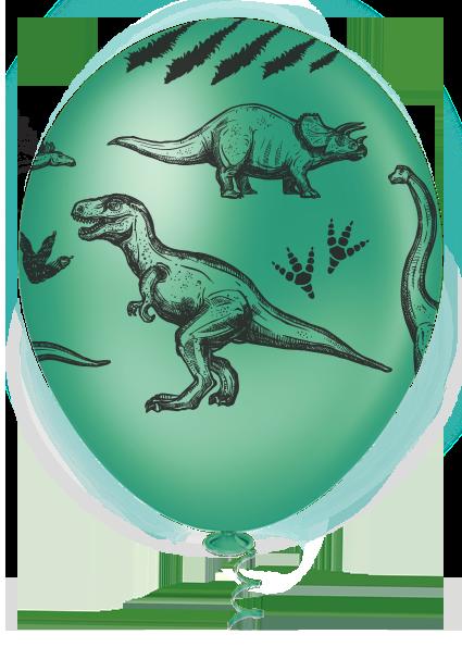"""Balão de Festa Estampado Dinossauros Sortido - 10"""" 25cm - Pic Pic"""