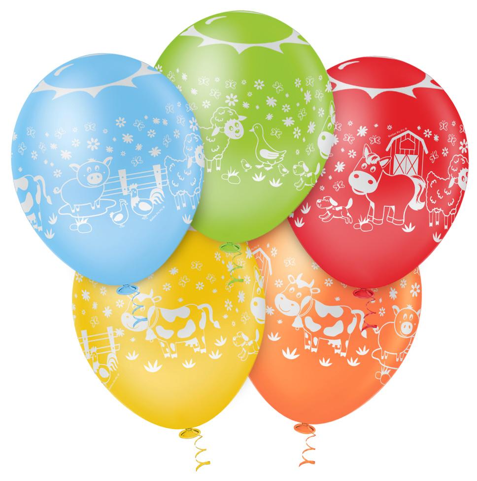 """Balão de Festa Estampado Fazendinha Sortido - 10"""" 25cm - Pic Pic"""