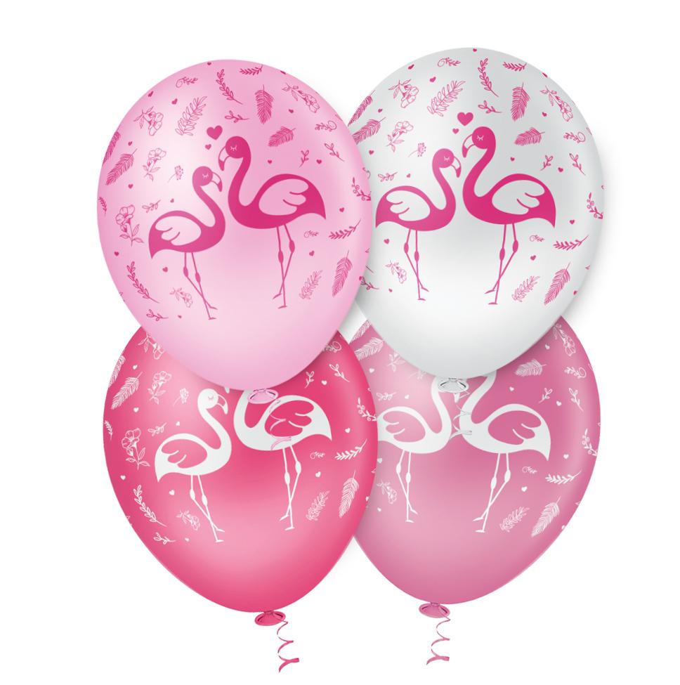 """Balão de Festa Estampado Flamingo Sortido- 10"""" 25cm - Pic Pic"""